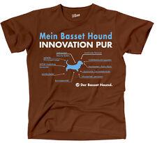 SALE T-Shirt Hunde Hund INNOVATION PUR BASSET HOUND fun Siviwonder