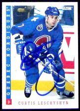 Curtis Leschyshyn Quebec Nordiques 1993-94 Score Signed Card
