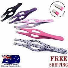 Stainless Steel Hair Eyebrow Plucker Puller Beauty Nail Slanted Tip Tweezers