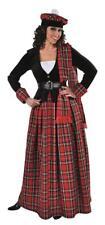 Schotte Schottin Scottish Girl Lady Rock Schottenkostüm Kostüm Kleid Damen Mütze