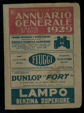 TOURING CLUB ITALIANO ANNUARIO GENERALE 1929