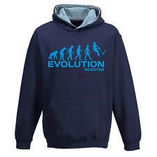 PUSH KICK STUNT SCOOTER EVOLUTION Sposta rapidamente Due Tonalità Felpa Con Cappuccio Felpa Bambini Ragazzi Ragazze