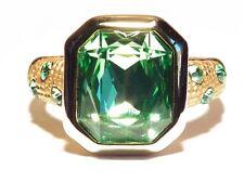 Damen Ring April, Metall-Legierung, Gold plattiert, Zirkonia