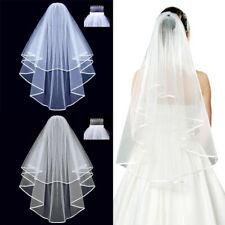 Women Lady White Bride Bridal Prop Wedding Veil Head Hair Accessory