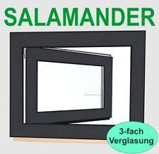 Kunststofffenster  Anthrazit RAL7016 Salamander Fenster 3fach Verglasung