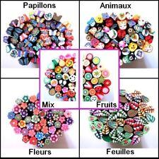 Au choix 20 tiges cannes en fimo polymère ongle décoration à découper 5cm