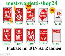 1 Plakat für Rahmen DIN A1 / Ankleber Plakat deko Display Kundenstopper Werbung