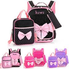 Girls Backpack Primary Student Rucksack Leisure Gift Kids School Bag + Tote