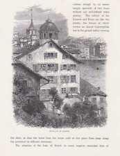 Zürich Altstadt Lindenhof HOLZSTICHE um 1880