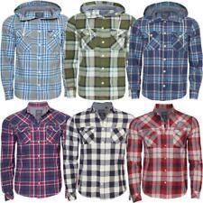 Mens AMBROSE long sleeved hooded & collar shirts 6 variation