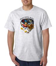 USA Made Bayside T-shirt Wizard Run Toto Run Funny Life Choas Attitude