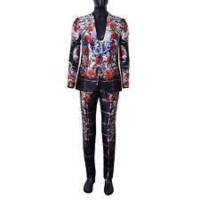DOLCE & GABBANA RUNWAY Torero Carnation Silk Suit Blazer Jacket Vest Pants 06908