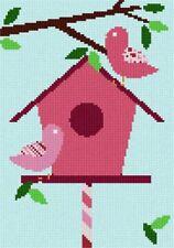 Birdhouse 2 Needlepoint Kit or Canvas (Animal)