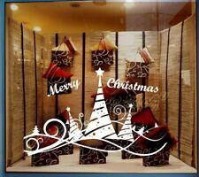 Adesivi albero natale 5 nastri vetrina finestra decorazione parete arte