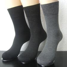 3 Paar Damen Bambus-Melange Socken weicher Rand ohne Gummi schwarz grau 35 - 38