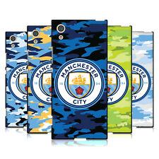 MANCHESTER CITY MAN CITY FC STEMMA CAMOU COVER IN GEL NERA PER SONY TELEFONI