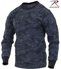 Rothco Mens Midnight Blue & Black Digital Camo Long Sleeve Camouflage Tee Shirt