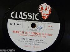 "78rpm 12"" EMIL TELMANYI mozart menuet - serenade 7 / Haydn serenade for strings"