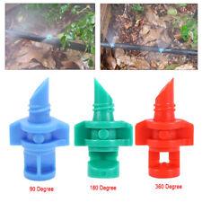 50/100PCS Micro Irrigation 90 180 360 Degree Garden Lawn Spray Nozzle Sprinkler
