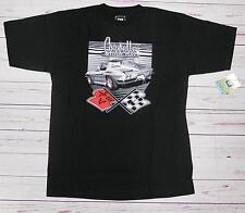 T-shirt CHEVROLET CORVETTE Sting Ray con cartellino ORIGINALE GM nera L-XL