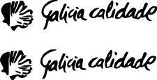 p86 2 x Galicia Calidade Pegatina Sticker Vinilo Coche Adhesivo Logo 2x1