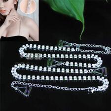 2PCs Adjustable Double Rows Crystal Diamante Rhinestone Bra Shoulder Strap SP