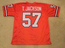 UNSIGNED CUSTOM Sewn Stitched Tom Jackson Orange Jersey - M, L, XL, 2XL