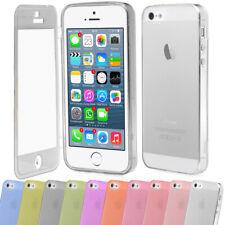 Apple iPhone 4 4s 5 5s TPU Silikon SchutzHülle Deckel Bumper Tasche Staubschutz