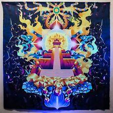 Psychedelic Fluorescent Backdrop Meditation Sacred Acid Glow UV DMT Mushroom Psy