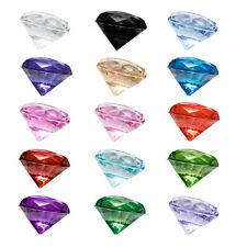 10 Dekosteine 2 cm - Diamanten Kristalle Steine Deko Tischdeko Basteln Hochzeit