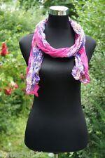 Schal Stola Pink Lila  Bunt  Neu Trend Blume Blumen