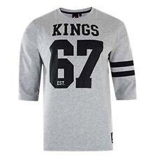 Majestic Fortier Heavyweight LA Kings Grey Black Mens T-Shirt A1LAK5013GRY EE162