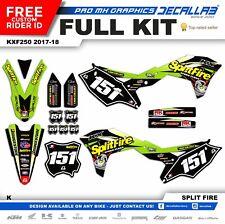 KAWASAKI KXF 250 2017 2018 MX Graphics MX Decals MX Stickers Decallab