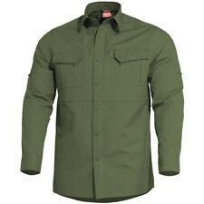 Pentagon Plato Tactisch Overhemd Heren Lange Mouw Werkbeveiliging Camo Green