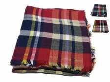 Foulard kefia donna a quadri multicolor blu rosso beige giallo grand m lana