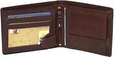 Genuine Leather Cowhide Men's Large European Wallet BLACK, BROWN, TAN #4555