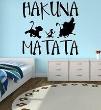 Lk1 Hakuna Matata Vinyl Quote 20 X7 Lion King Bedroom Wall Decor Wandtattoos Wandbilder
