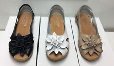 Sandals leather flat shoes women's ladies auyi slip on nodule walking travel