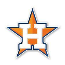 """Houston Astros """"Star"""" Decal / Sticker Die cut"""