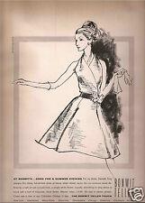 60's Kenneth Paul Block  Illustrated Bonwit Teller  Ad  1965