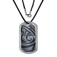 Dog Tag Pendant Necklace Cord Names Male Al-Ap