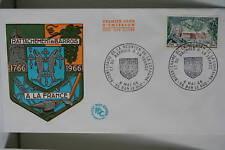 ENVELOPPE PREMIER JOUR 1966 REUNION BARROIS ET FRANCE