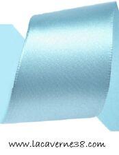 2/5/10/20m ruban satin 50 mm bleu clair mercerie couture
