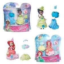 DISNEY Princess Fashion cambiamento Little Kingdom Tiana o Ariel Bambola 3 pollici da 4+ anni