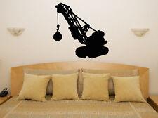 Excavadora WRECKING BALL Infantil dormitorio adhesivo para habitación pared