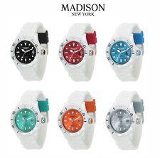 Madison Orologio in Silicone Gomma Multicolore Colorato NEW YORK WHITE MODA