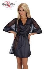 Kimono String schwarz 38 40 NEU Bademantel Morgenmantel Damen Dessous