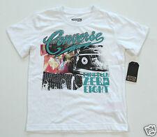 NEW All Star Converse T-Shirt Shirt Kids' Children's White nineteen08 (A3)