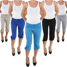 Damenhose Capri Sommerhose Stoffhose 3/4 Shorts Kurze Bermuda Sport Hose 062