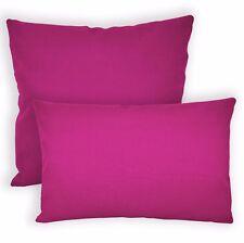 Aw37a Fuschia Pink High Quality 12oz Cotton Cushion Cover/Pillow Case CustomSize